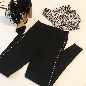 Zara knit black stud leggings